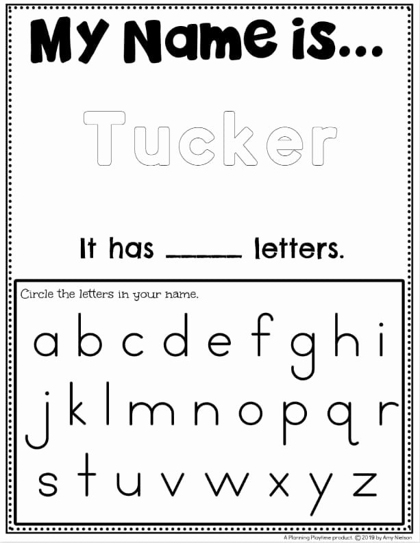 Tracing Your Name Worksheets for Preschoolers New Name Tracing Worksheets Planning Playtime