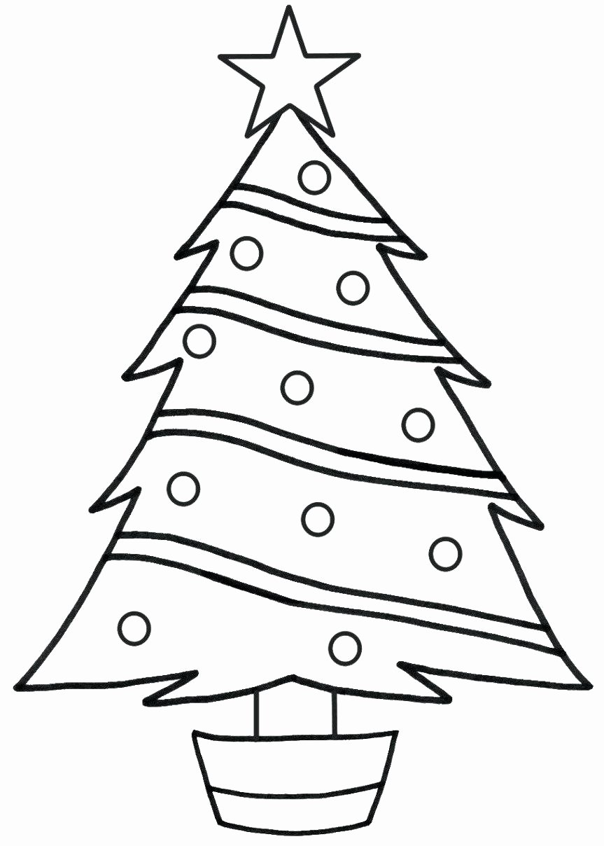 Tree Coloring Worksheets for Preschoolers Fresh Coloring Pages Free Christmas Tree Coloring Pages to Print