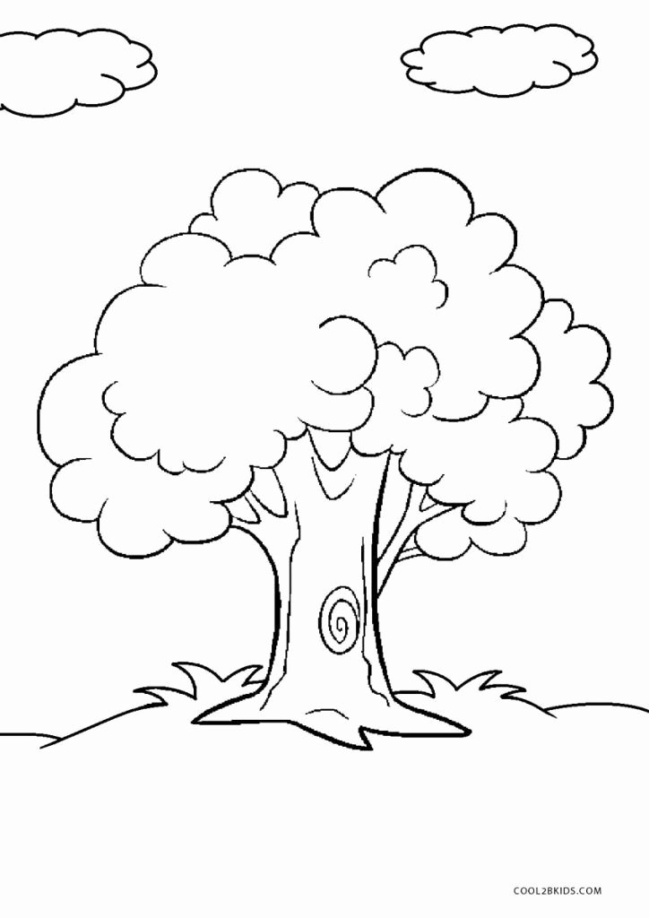 Tree Coloring Worksheets for Preschoolers Fresh Free Printable Tree Coloring Pages for Kids