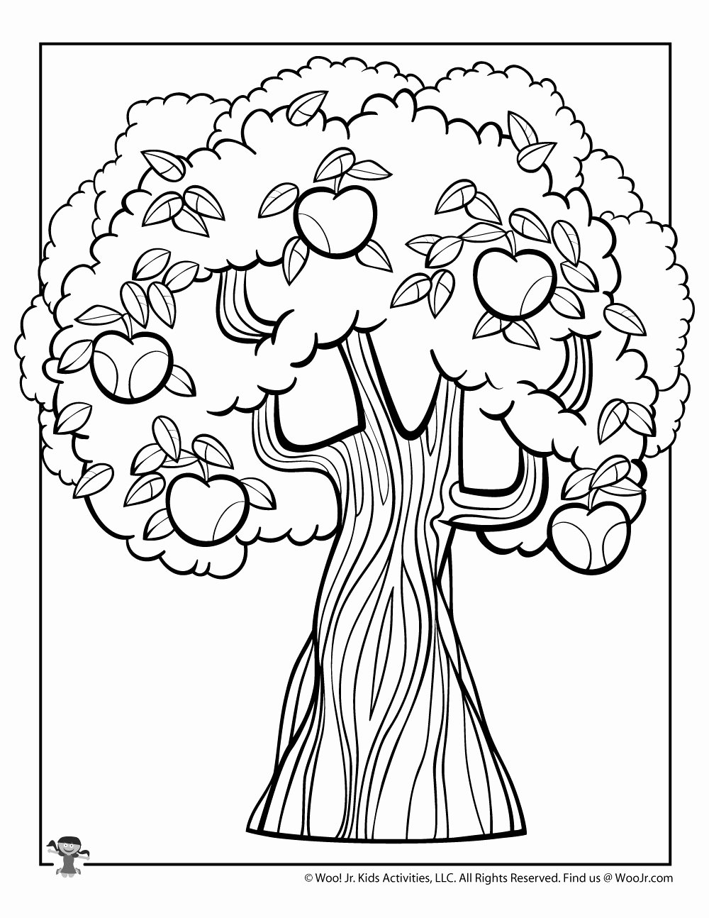 Tree Coloring Worksheets for Preschoolers New Apple Tree Coloring Woo Jr Kids Activities Picking Math