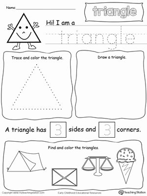 Triangle Worksheets for Preschoolers Best Of All About Triangle Shapes