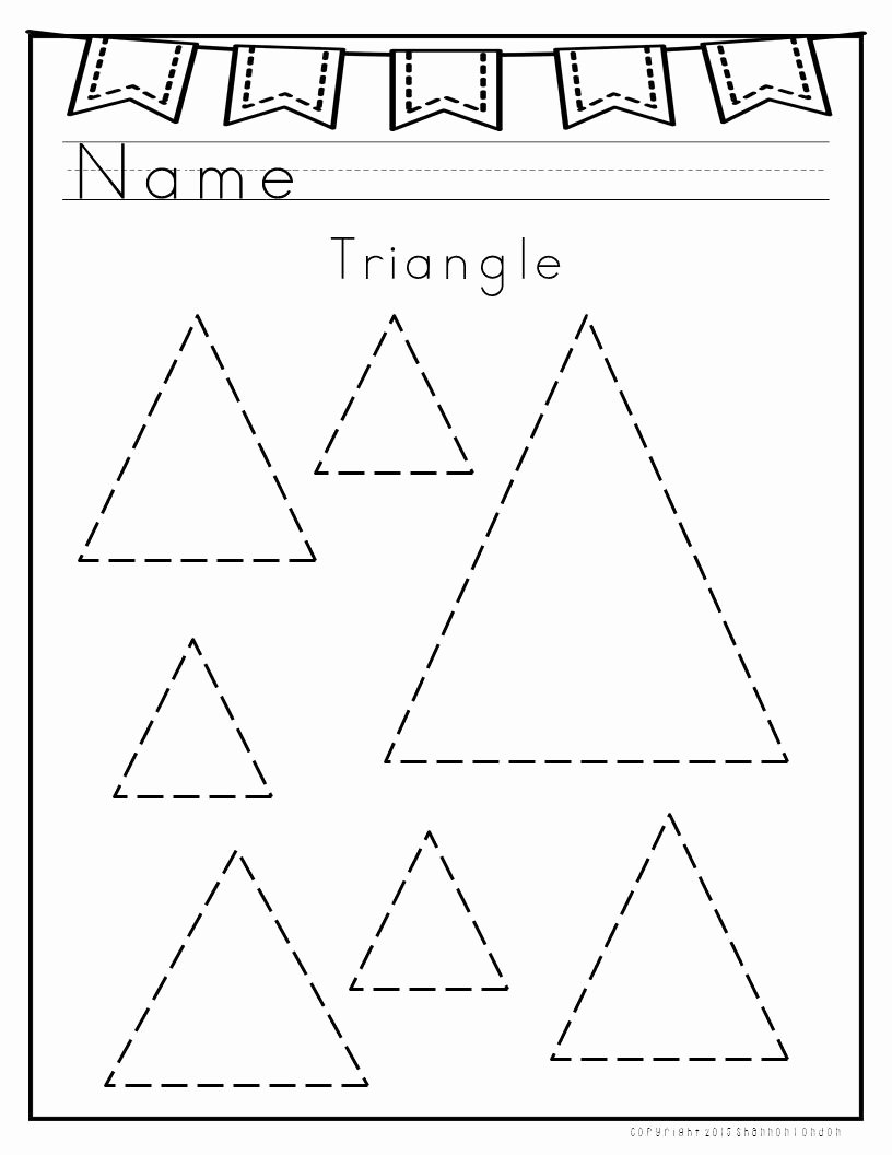 Triangle Worksheets for Preschoolers Free I Use these Worksheets with My Preschoolers to Practice
