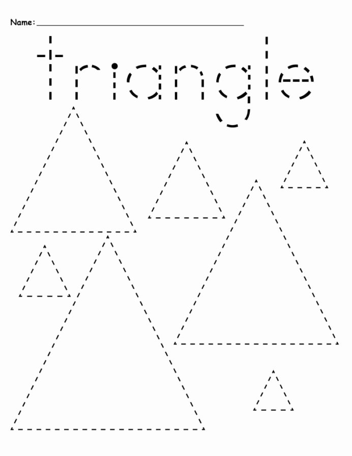 Triangle Worksheets for Preschoolers Ideas Preschool Tracing Worksheets Best Coloring for Kids Triangle