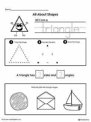 Triangle Worksheets for Preschoolers Inspirational All About Triangle Shapes