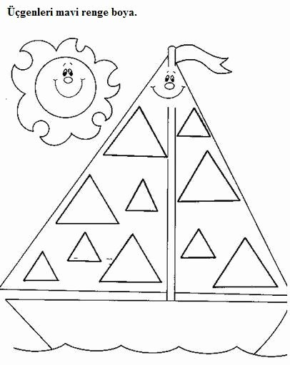 Triangle Worksheets for Preschoolers Lovely Preschool Triangle Worksheets Trace and Color 8