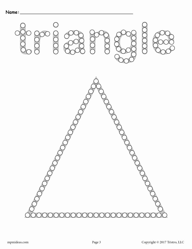 Triangle Worksheets for Preschoolers New Triangle Q Tip Painting Printable