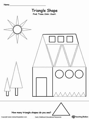 Triangle Worksheets for Preschoolers top All About Triangle Shapes
