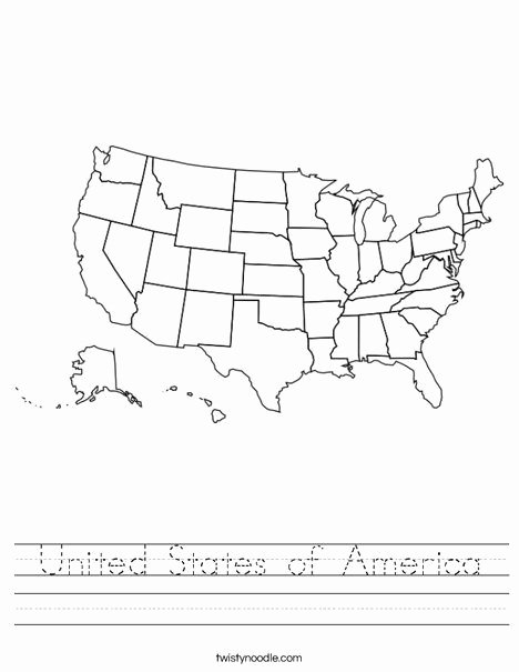 Usa Worksheets for Preschoolers Fresh United States Of America Worksheet