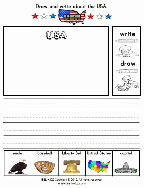Usa Worksheets for Preschoolers New Usa Activities Games and Worksheets for Kids