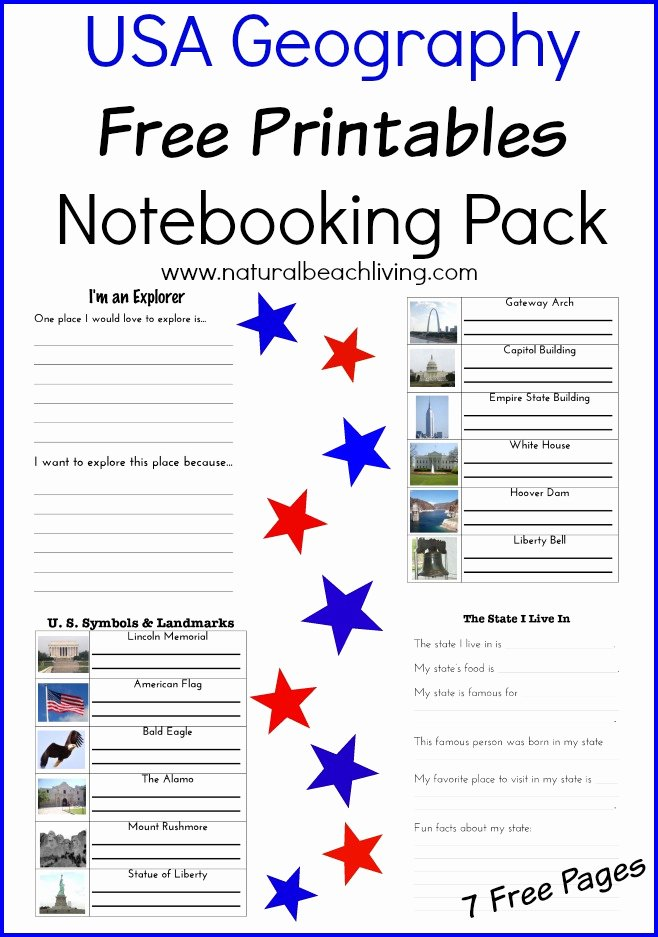Usa Worksheets for Preschoolers top Usa Geography Printables for Kids Free Printables