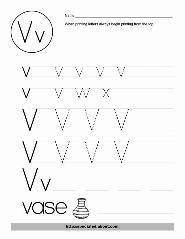V Worksheets for Preschoolers Free Free Worksheet Activities for the Letter V