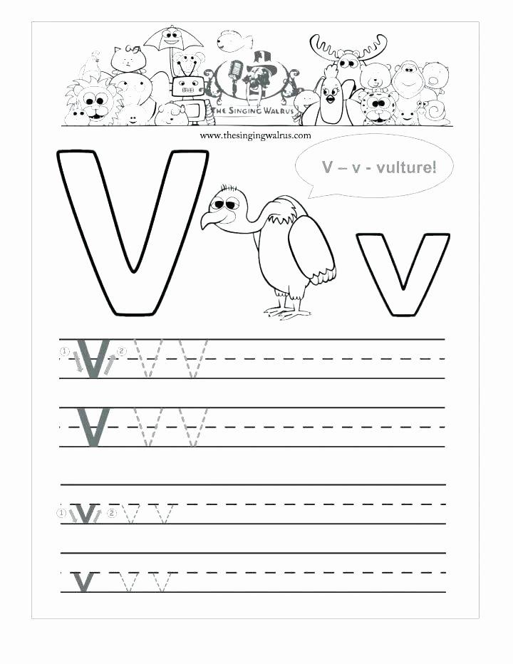 V Worksheets for Preschoolers Ideas 12 Learning the Letter V Worksheets
