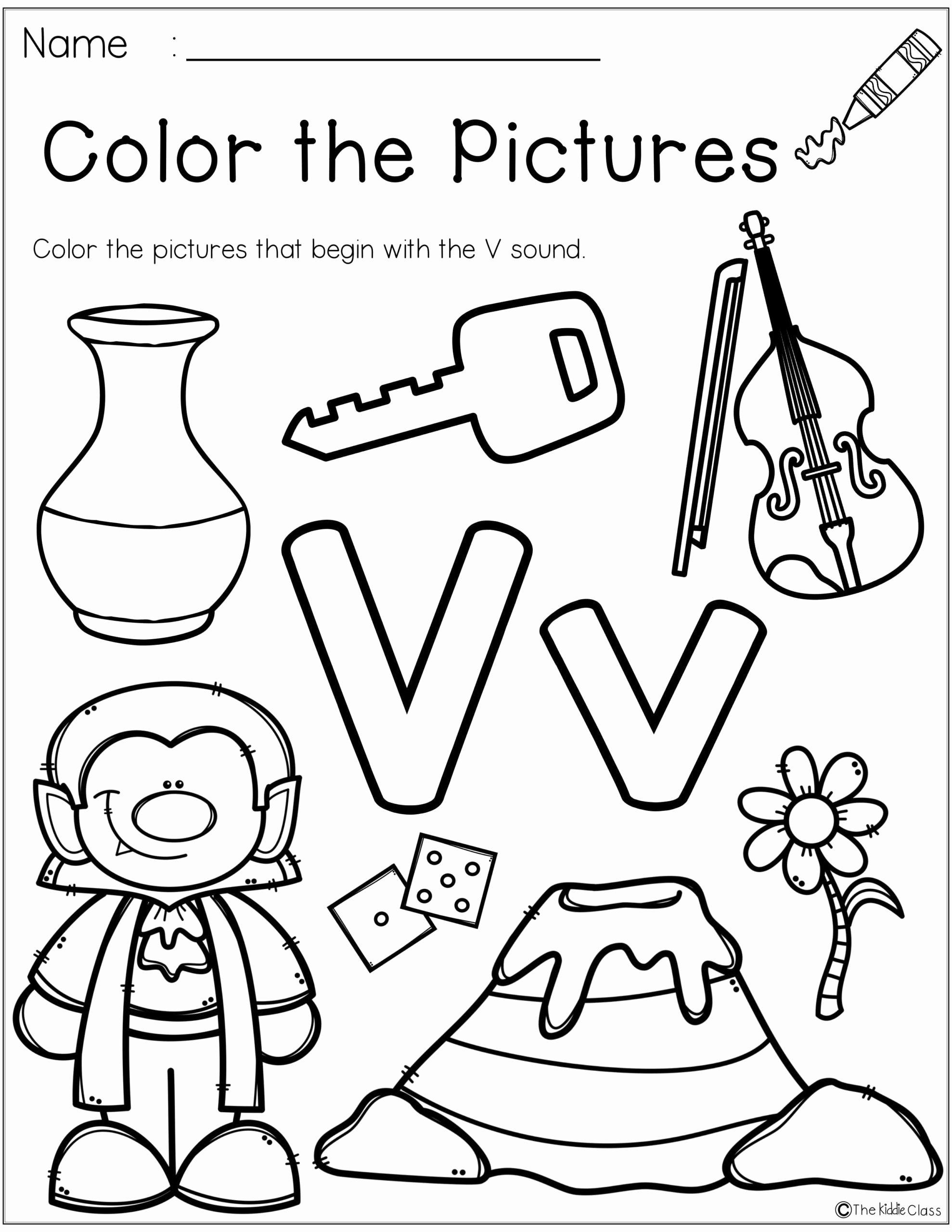 V Worksheets for Preschoolers Lovely Letter the Week Crafts Worksheets for Kindergarten