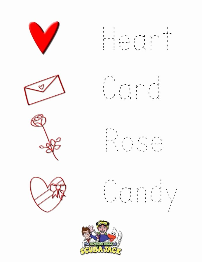 Valentine Worksheets for Preschoolers Best Of Preschool Valentine Day Worksheets Worksheets Christmas