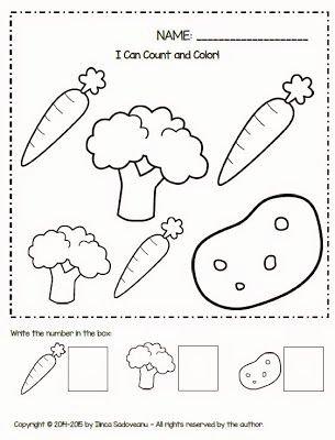 Vegetables Worksheets for Preschoolers Fresh Fruit and Ve Ables Worksheets Freebie