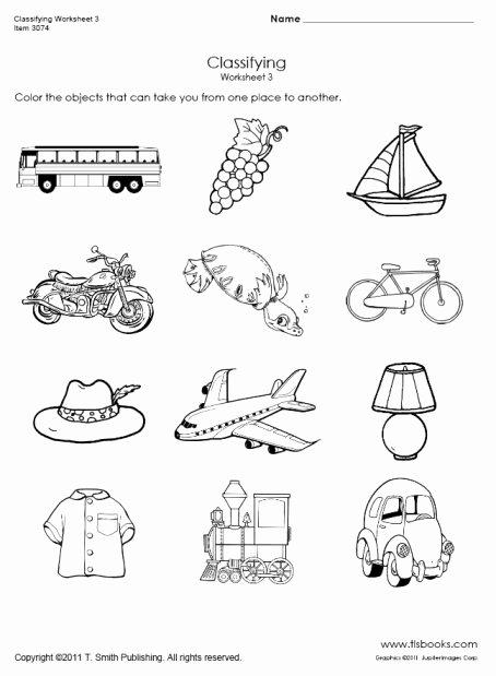 Vehicles Worksheets for Preschoolers top Transportation Classifying Worksheet 3