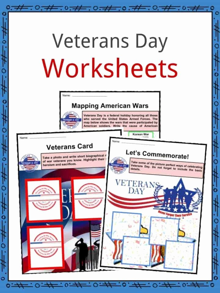 Veterans Day Worksheets for Preschoolers Free Veterans Day Facts Worksheets & Historical Information for