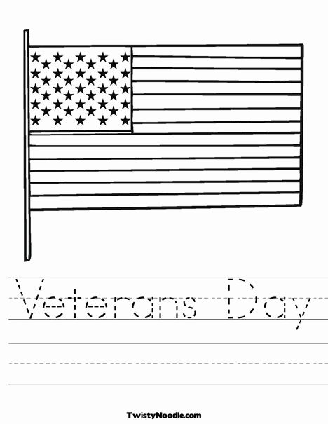 Veterans Day Worksheets for Preschoolers Printable Veterans Day Worksheet