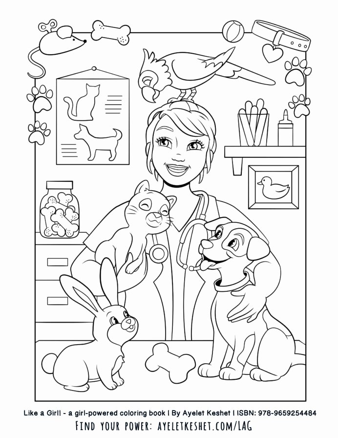 Veterinarian Worksheets for Preschoolers Inspirational Girl Free Printables the Coloring Book Like Veterinarian