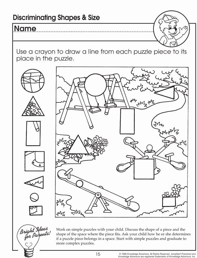 Visual Discrimination Worksheets for Preschoolers Best Of Worksheet for Preschoolers Jumpstart