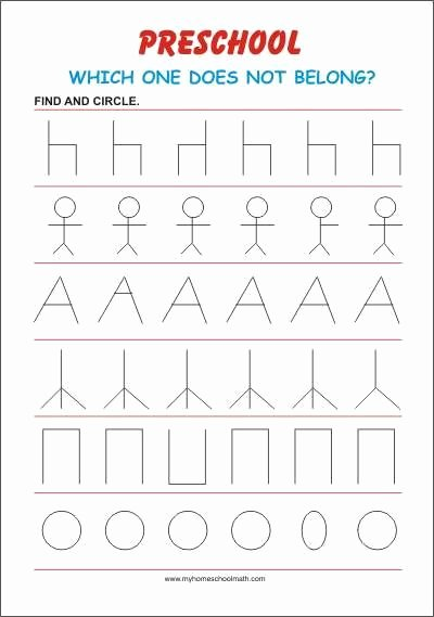 Visual Discrimination Worksheets for Preschoolers Ideas Focus Preschool Worksheet In 2020