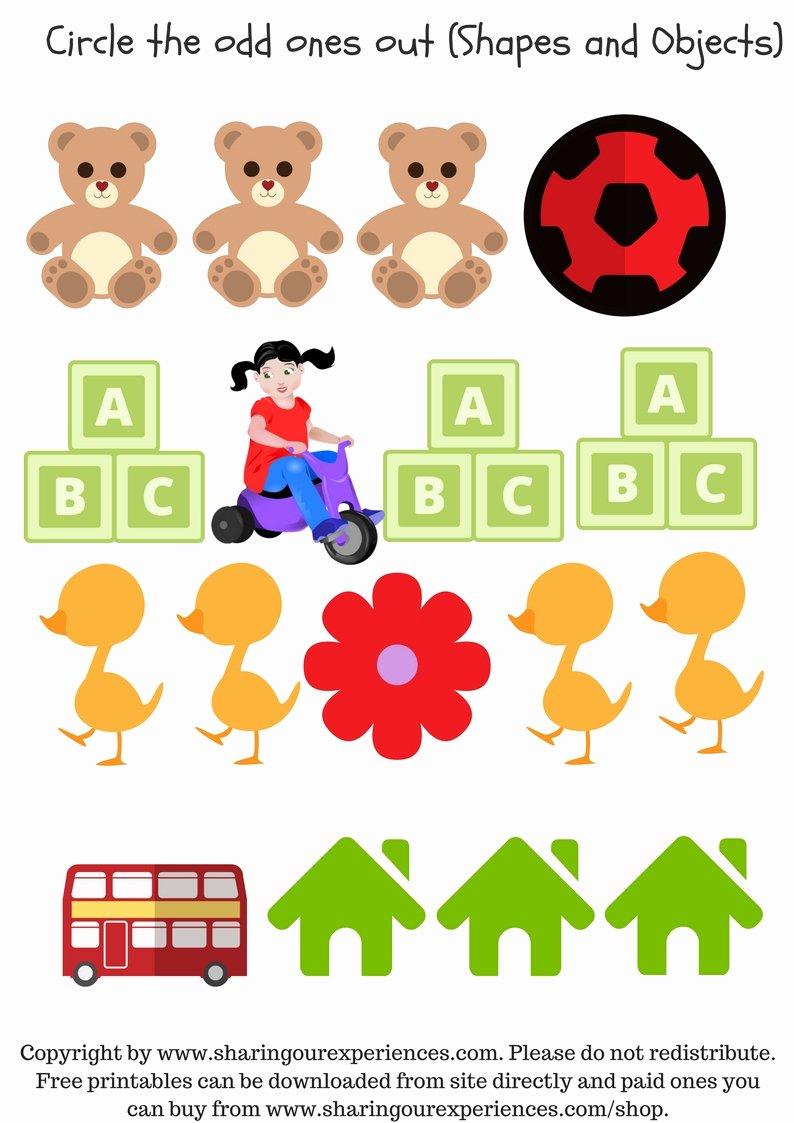 Visual Discrimination Worksheets for Preschoolers Ideas Preschool Visual Discrimination Free Printable Worksheets