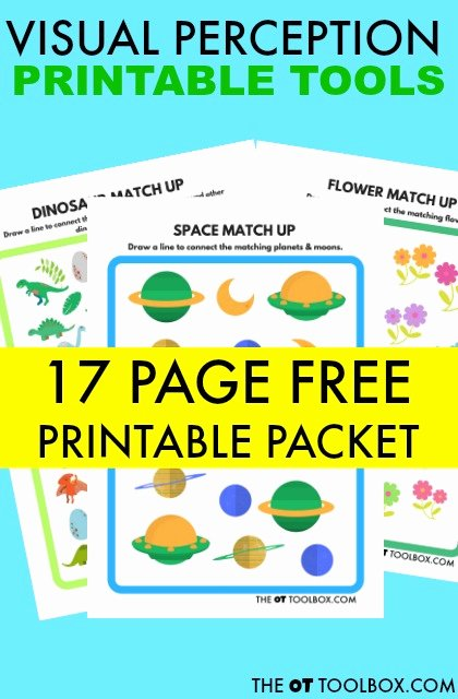 Visual Discrimination Worksheets for Preschoolers Lovely Free Visual Perception Packet the Ot toolbox