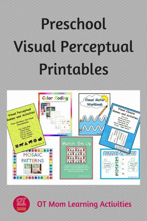 Visual Perception Worksheets for Preschoolers Kids Visual Perception Printable Activities for Preschool
