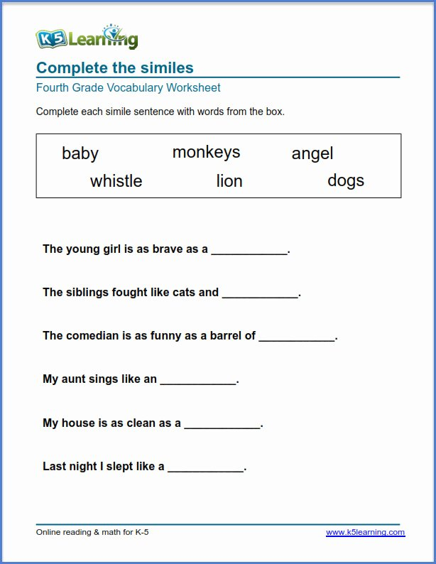 Vocabulary Worksheets for Preschoolers Best Of Worksheet Grade Vocabulary Worksheets Printable and