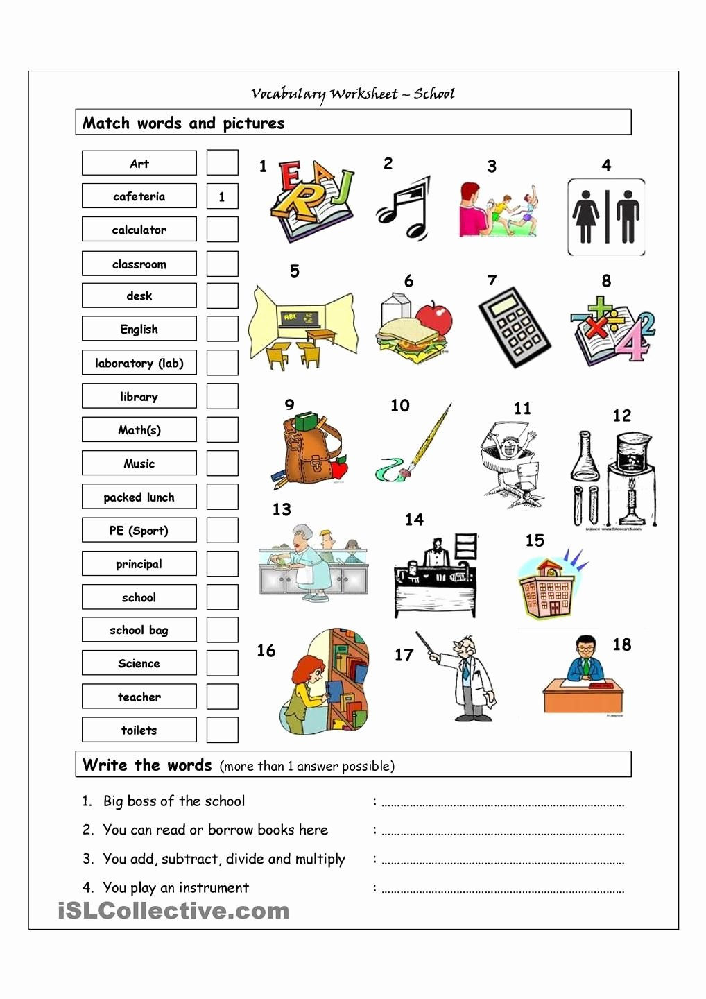 Vocabulary Worksheets for Preschoolers Free Vocabulary Matching Worksheet School Academic Worksheets