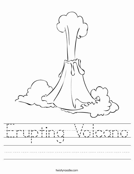 Volcano Worksheets for Preschoolers Ideas Erupting Volcano Worksheet