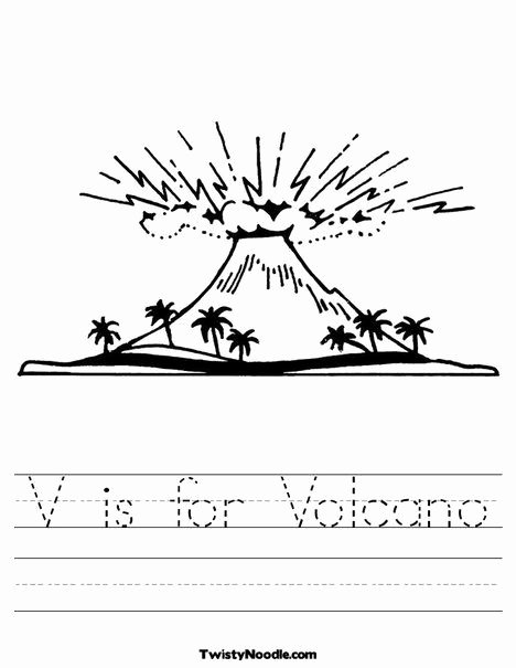 Volcano Worksheets for Preschoolers Lovely V is for Volcano Worksheet