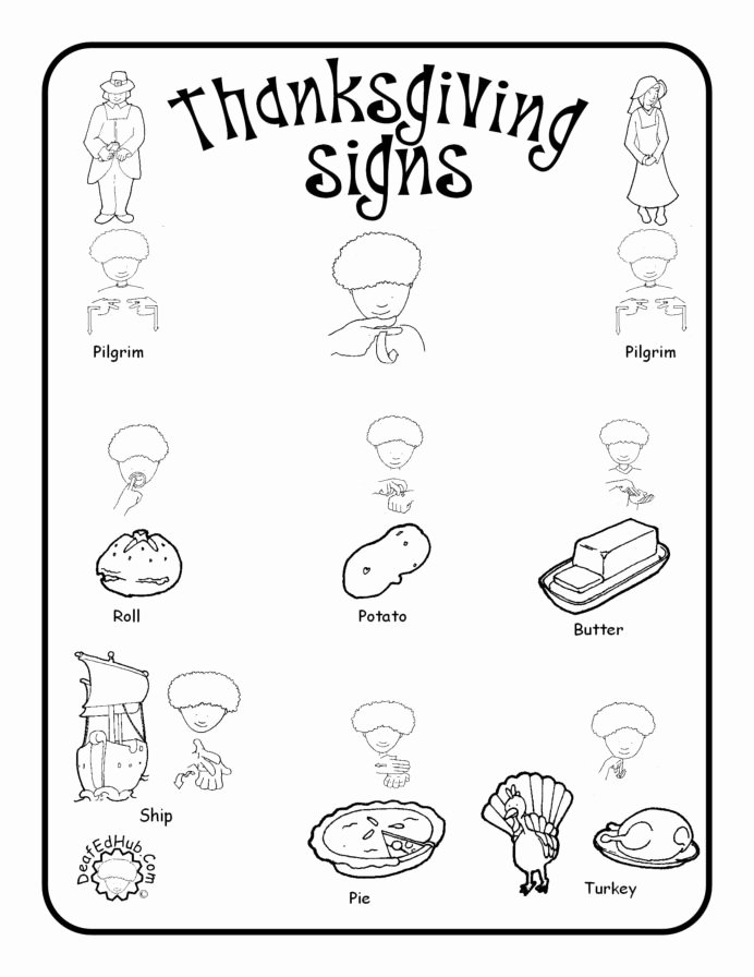 Volume Worksheets for Preschoolers Fresh Sign Language Vocabulary Worksheets Printable and thesaurus