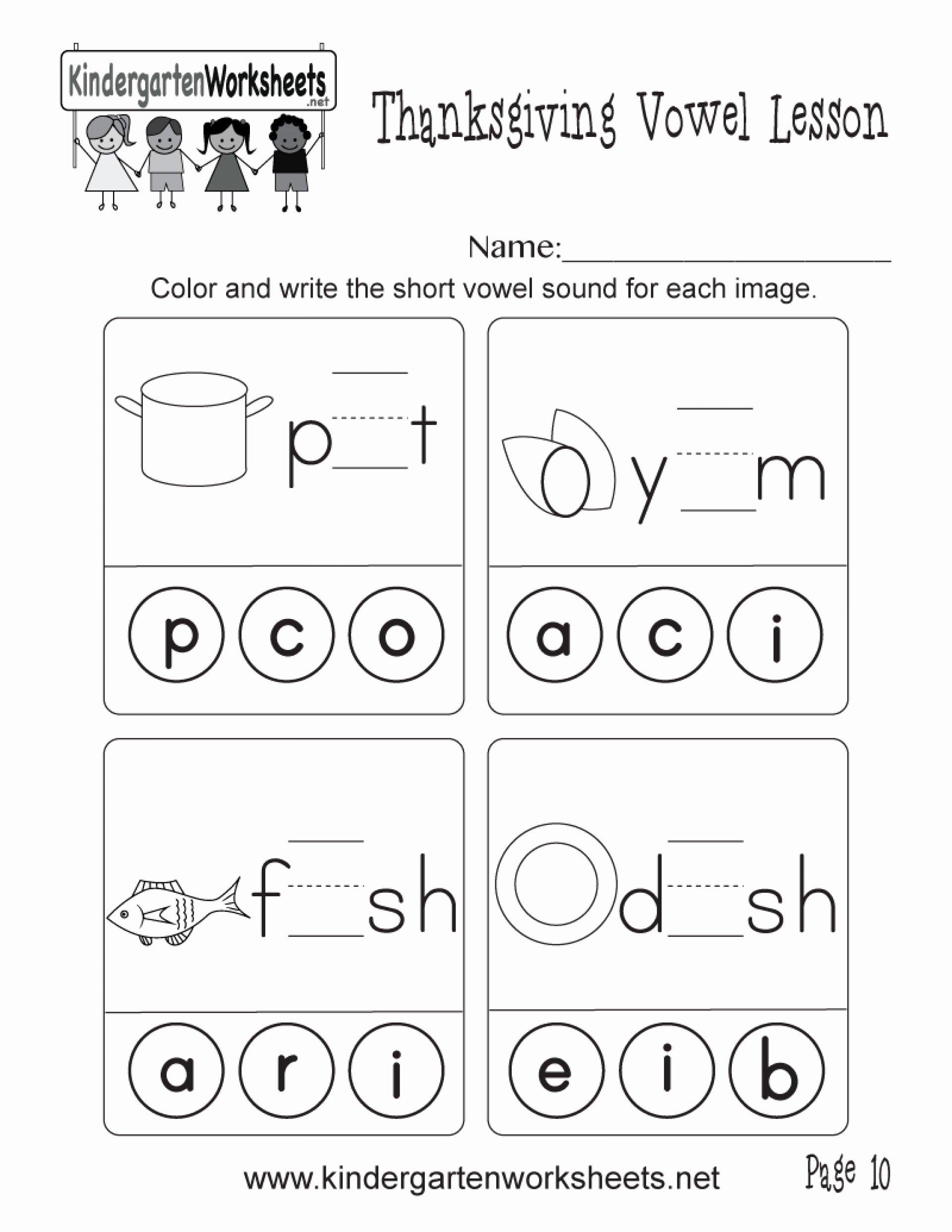 Vowels Worksheets for Preschoolers Fresh and Short Vowel sounds Worksheets Learning Printable
