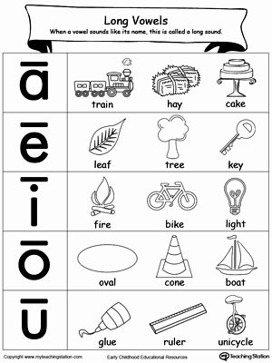 Vowels Worksheets for Preschoolers Inspirational Long Vowels sound Picture Reference