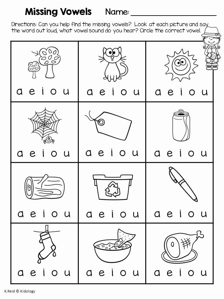 Vowels Worksheets for Preschoolers New Phonics Vowels Worksheets and No Prep Printables