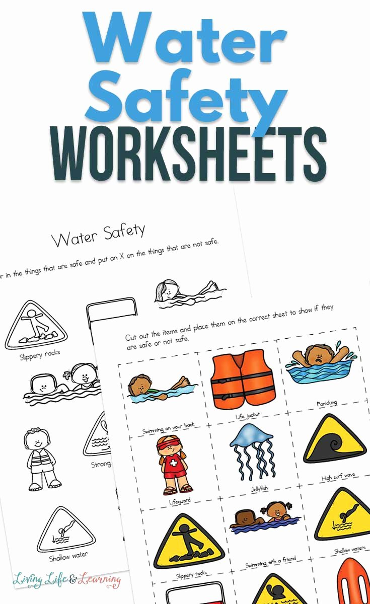 Water Safety Worksheets for Preschoolers Lovely Water Safety Worksheets for Kids