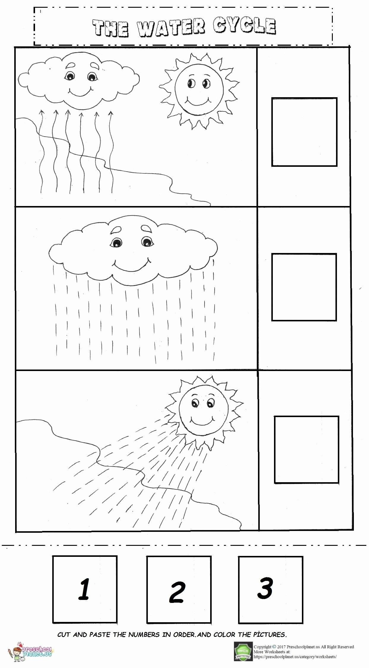Water Worksheets for Preschoolers Lovely the Water Cycle Worksheet – Preschoolplanet