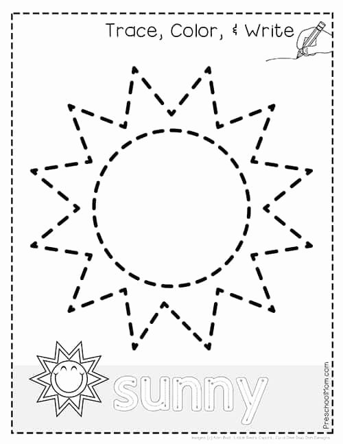 Weather Worksheets for Preschoolers Lovely Weather Tracing Pages