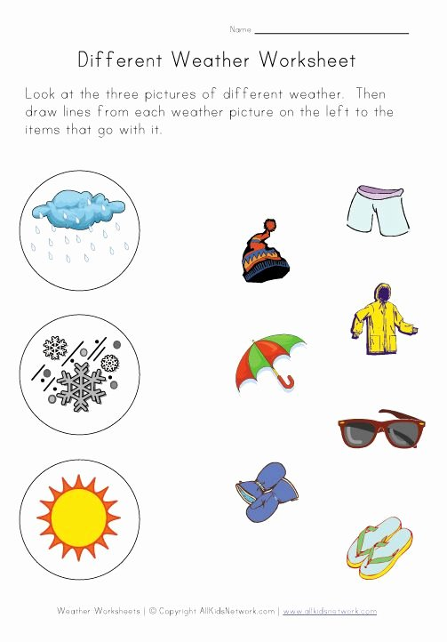 Weather Worksheets for Preschoolers New Weather Worksheets for Kids