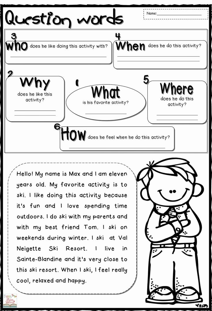 Wh Questions Worksheets for Preschoolers Lovely Wh Question Worksheets