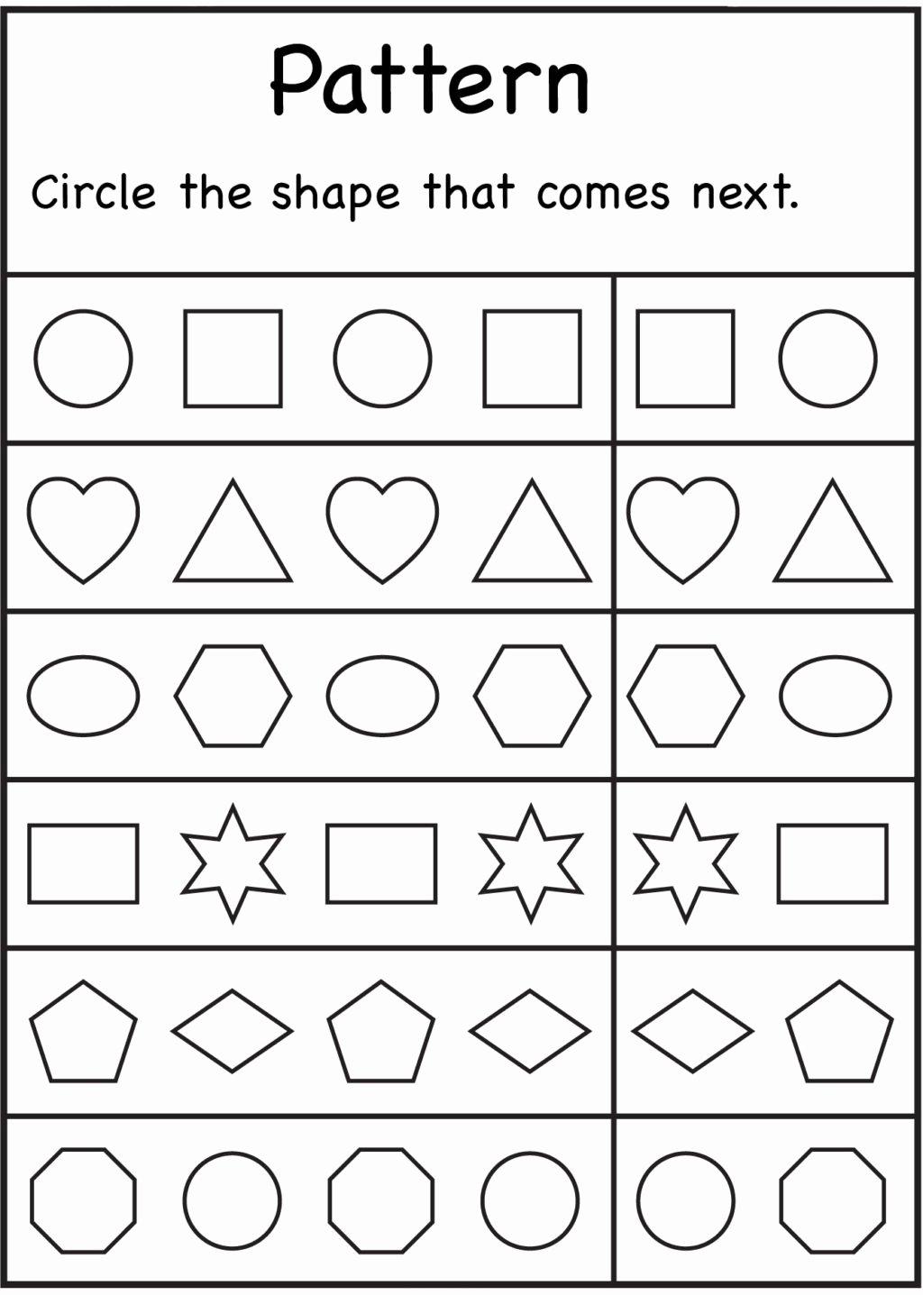 What Comes Next Worksheets for Preschoolers Best Of Worksheet Worksheet Kindergarten Worksheets Math Preschool
