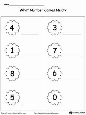 What Comes Next Worksheets for Preschoolers Kids Number In Between 10 Through 20 Worksheet