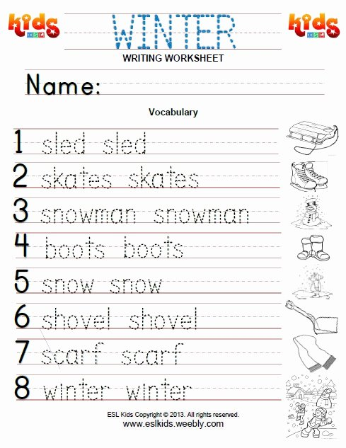 Winter Activity Worksheets for Preschoolers Printable Winter Activities Games and Worksheets for Kids Kindergarten