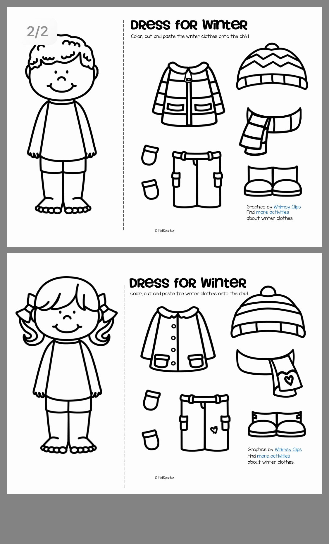 Winter Clothes Worksheets for Preschoolers Fresh Pin by Tijana Korbar On Winter In 2020