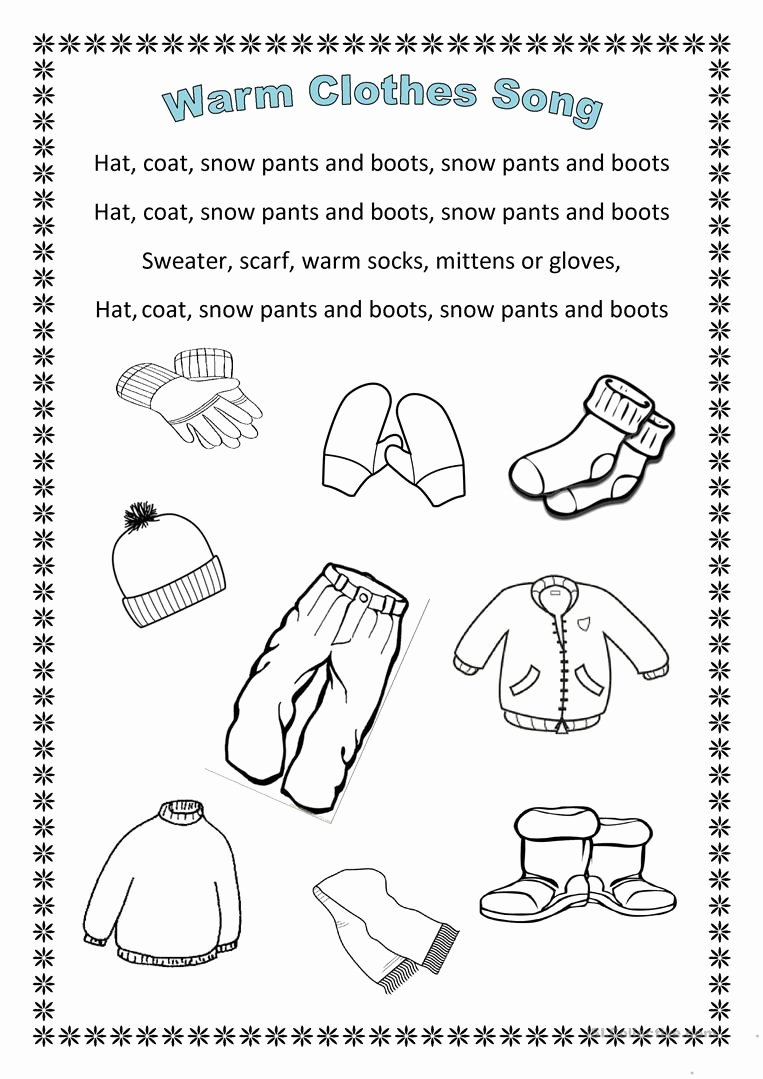 Winter Clothes Worksheets for Preschoolers Inspirational Clothes Lessons Tes Teach