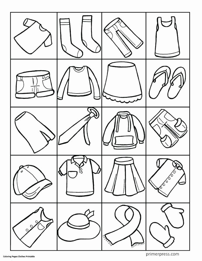 Winter Clothes Worksheets for Preschoolers Lovely Winter Clothing Worksheet for Preschoolers Printable