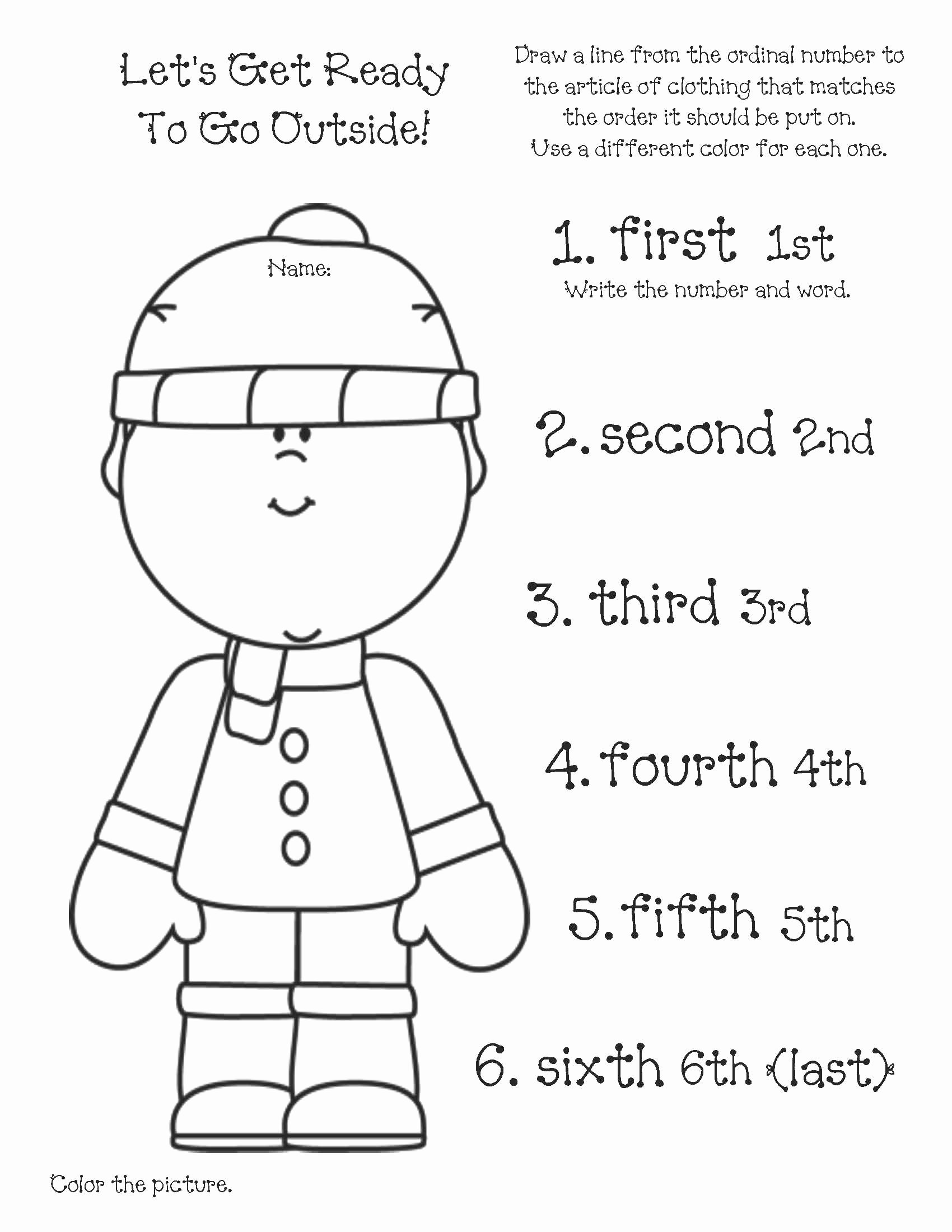 Winter Clothes Worksheets for Preschoolers top Ready Set Go