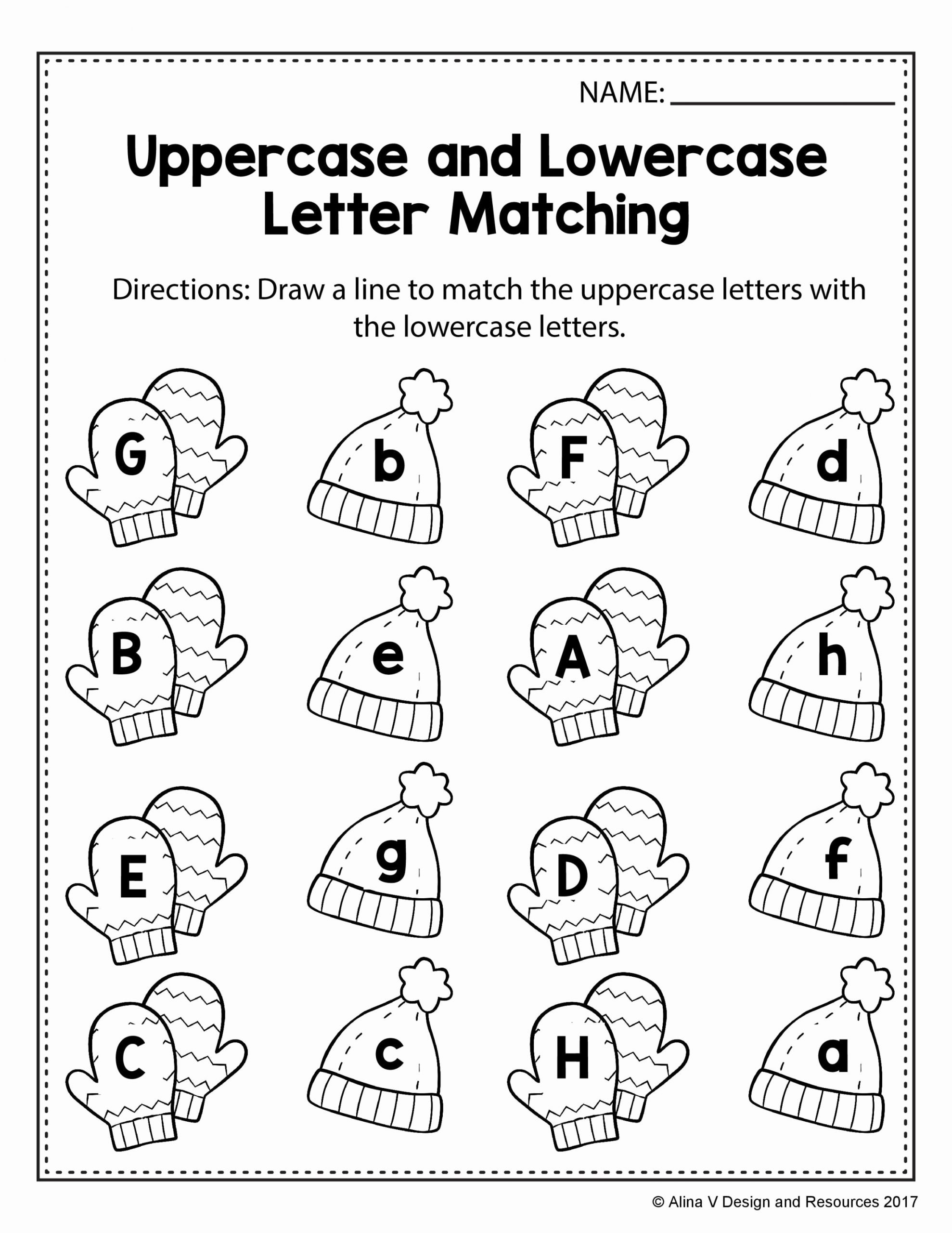 Winter Matching Worksheets for Preschoolers Best Of Alinavdesign