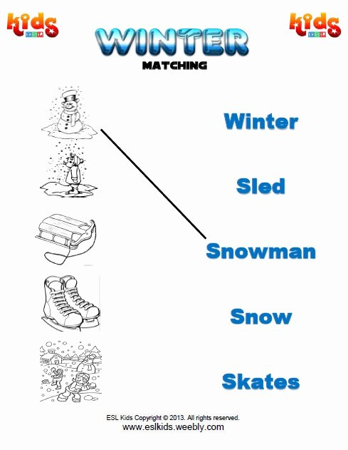 Winter Matching Worksheets for Preschoolers Best Of Winter Activities Games and Worksheets for Kids